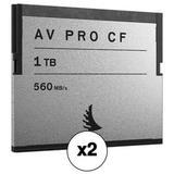 Angelbird 1TB AV Pro CF CFast 2.0 Memory Card Kit 2-Pack AVP1TBCF