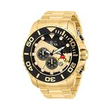 Invicta Men's 50mm Disney Mickey Limited Edition Quartz Watch with Stainless Steel Strap, Gold-32448