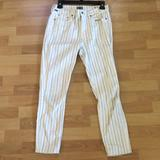 Anthropologie Pants & Jumpsuits   Anthropologie Citizen Of Humanity Striped Pants   Color: Black/White   Size: 27