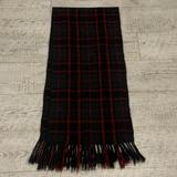 J. Crew Accessories | Plaid Christmas Scarf Checkered Tassel Fringe | Color: Gray/Red | Size: Os
