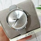 Michael Kors Accessories | Nwt Michael Kors Charley Silver-Tone Watch Mk2793 | Color: Silver/Tan | Size: Os