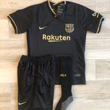 Nike Matching Sets   Kids Kit Barcelona Soccer Set Nike Bara   Color: Black   Size: Various
