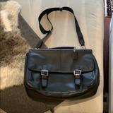 Coach Bags | Euc Coach Leather Briefcase | Color: Black/Silver | Size: Os