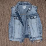 American Eagle Outfitters Tops   Denim Vest   Color: Blue   Size: M