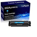 1-Pack (Cyan) Compatible Laser Toner Cartridge High Yield Replacement for HP 202A | CF501A | Laser Printer Toner Cartridge use for HP Laserjet M281fdw M281fdn M254dn M254nw Printer