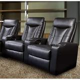 BOWERY HILL Leather Home Theater Seating in Black