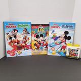 Disney Toys | Nib Disney Mickey Mouse (4) Piece Bundle!! | Color: Blue/Red | Size: Unisex