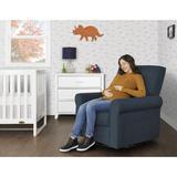 Evolur Swivel Glider Chair in Blue, Size 37.0 H x 31.0 W x 34.0 D in | Wayfair 811048037688