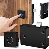 Smart Electronic Cabinet Drawer Lock, Fingerprint Lock for Wooden Furniture Drawer Cabinet Shelf Cupboard Locker Door, Home & Office Biometric Lock Child Proof, Keyless and No RFID Card