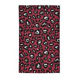 East Urban Home Animal Print Red/Black/White Area Rug Polyester in Black/Red, Size 72.0 H x 48.0 W x 0.25 D in   Wayfair