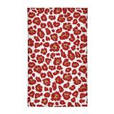 East Urban Home Animal Print White/Red/Yellow Area Rug Polyester in Red/White, Size 72.0 H x 48.0 W x 0.25 D in   Wayfair