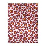 East Urban Home Animal Print White/Red/Yellow Area Rug Polyester in Red/White, Size 120.0 H x 96.0 W x 0.25 D in   Wayfair