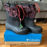 Columbia Shoes | New! Columbia Snow Boots. Kids Size 5 | Color: Black/Red | Size: 5b