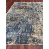 Exquisite Rugs Laureno Hand-Knotted Area Rug Silk/Bamboo Slat & Seagrass in Blue, Size 168.0 W x 0.4 D in   Wayfair 4022-E0I0