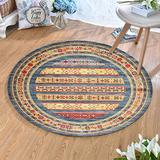 MOXIC Traditional Round Area Rugs Soft Living Room Bedroom Children Kids Crawling Rug Bathroom Mats Anti-slip Persian Heriz Carpet Vintage Home Decorate Collection Circular Nursery Runners 2.5' X 2.5'
