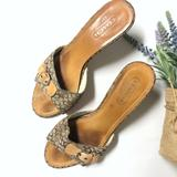 Coach Shoes | Coach Asleigh Kitten Heel Sandal | Color: Brown/Tan | Size: 6.5