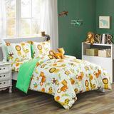 Indigo Safari 4 Piece Toddler Bedding Set Polyester in Yellow, Size Full   Wayfair B5D3B0D503A74938803E24D5222F0424