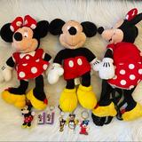 Disney Toys   Disney Minnie Mickey Mouse Stuffed Toys Backpack   Color: Red/White   Size: Osg