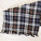 J. Crew Accessories | J Crew Plaid Blanket Scarf | Color: Blue/Red | Size: Os