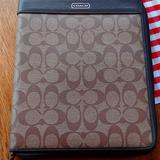 Coach Accessories   Coach Ipadmedia Cover Stand   Color: Brown   Size: Tablet Space 7.5w X 9.75t Outside 8.25w X 10t