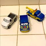 Disney Toys   Disney Set Car Toy In Good Condition   Color: Blue/White   Size: One