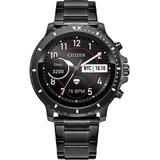 Cz Smart Hr Gray Stainless Steel Bracelet Touchscreen Smart Watch 46mm - Gray - Citizen Watches