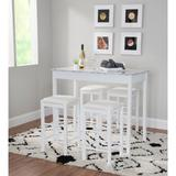 Lancer 5-Pc. Tavern Set White Faux Marble by Linon Home Dcor in White