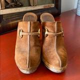 Gucci Shoes   Gucci Joplin Horsebit Suede Mules Vintage   Color: Brown   Size: 8