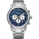 Quartz Chronograph Stainless Steel Bracelet Watch 42mm - Metallic - Citizen Watches