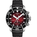 Seastar 1000 Chronograph Rubber Strap Watch - Metallic - Tissot Watches