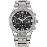 Chronograph Eco-drive Crystal Stainless Steel Bracelet Watch 42mm - Metallic - Citizen Watches