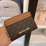 Michael Kors Bags | Mk Jst Md Card Case Wallet Brown | Color: Brown | Size: Os
