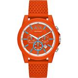 Armani Exchange Chronograph Quartz Orange Dial Watch AX1347