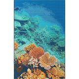 Unique Loom Outdoor Coastal Collection Oceanic Coral Blue/Brown Area Rug (5' 3 x 8' 0)