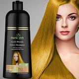 Herbishh Hair Color Shampoo for Gray Hair – Natural Hair Dye Shampoo – Colors Hair in Minutes–Long Lasting–500 Ml–3-In-1 Hair Color–Ammonia-Free | Herbishh (Gold Blonde)