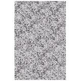 Shaw Super Shag Area Rug Bling Collection Arctic White 5 Feet x 7 Feet