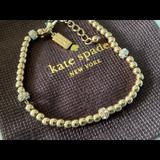 Kate Spade Jewelry | Kate Spade Bead And Jewel Tennis Bracelet | Color: Gold/White | Size: Os