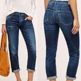 Anthropologie Jeans   26 Anthro Coh Dylan Drop Rise Cropped Jeans   Color: Blue   Size: 26