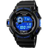 Mens Digital Dual Display Sports Watches Military Multifunctional 50M Waterproof LED Watch with Alarm Backlight 12H/24H Outdoor Running Swimming Black Chronograph Watch