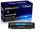 1-Pack (Cyan) Compatible Laser Toner Cartridge High Yield Replacement for HP 204A | CF511A | Laser Printer Toner Cartridge use for HP Laserjet MFP M180nw M180n M181 M181fw M154 M154a M154nw Printer