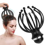 Electric Vibration Head Massager,Scalp Massager,Head Scratcher with 2 Vibration Modes and Auto-Off FunctionHandheld Scalp Massager Head Massager for Relieve Fatigue and Stress USB Charging Massager