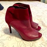 Nine West Shoes   Nine West Peep Toe High Heel Boots   Color: Red   Size: 6.5