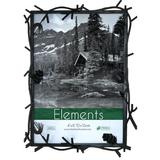Timeless Frames Natures Pine Picture Frame Wood in Black/Brown, Size 11.0 H x 9.0 W x 1.25 D in | Wayfair 41425