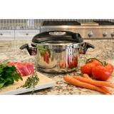 Barton Turbo Pressure Cooker Stovetop in Gray, Size 8.25 H x 16.0 W x 10.25 D in | Wayfair 99943