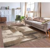 17 Stories Sanem Abstract Beige Area Rug Polypropylene in White, Size 144.0 H x 108.0 W x 0.5 D in | Wayfair 276511CB29B04D33890DA33A492F68AE