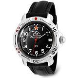 VOSTOK   Komandirskie 811306 Tank Commander Russian Military Mechanical Wrist Watch   WR 20 m   Fashion   Business   Casual Men's Watches   Leather Band B