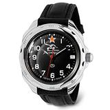 VOSTOK   Komandirskie 211306 Tank Commander Russian Military Mechanical Wrist Watch   WR 20 m   Fashion   Business   Casual Men's Watches   Leather Band B