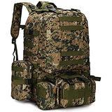 Military Rucksack,Carry on Bag Massive Water Resistant School Rucksack,Tactical Backpack Military Rucksack Unisex JUNCAN (Color : C)