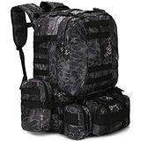 Military Rucksack,Carry on Bag Massive Water Resistant School Rucksack,Tactical Backpack Military Rucksack Unisex JUNCAN (Color : D)