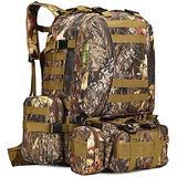 Military Rucksack,Carry on Bag Massive Water Resistant School Rucksack,Tactical Backpack Military Rucksack Unisex JUNCAN (Color : A)